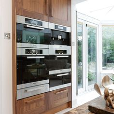 Banked appliances - Gotta love #Miele... Kitchen & Bath Cottage in Shreveport, LA is an authorized MIELE Showroom. www.kbcottage.com