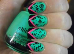 get detailed designs like these try asking around for manicurists that do nail art or designs. Not all nail shops have them.To get detailed designs like these try asking around for manicurists that do nail art or designs. Not all nail shops have them.