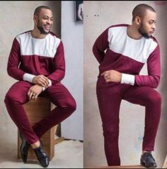 African Clothing for Men Traditional African Print by MalvisCo Nigerian Men Fashion, African Men Fashion, Mens Fashion, Fashion Outfits, African Clothing For Men, African Shirts, African Attire, African Wear, African Style