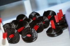 Licorice bar bells! black flag crossfit party   Be Envied Entertaining