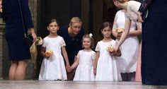 RECAP: Carl Philip and Sofia charm Sweden - The Local Crown Princess Victoria and Prince Daniel's daughter Estelle makes for a very cute bridesmaid. She's joined by Chloé and Anais Sommerlath, great nieces to Queen Silvia, and Tiara Larsson
