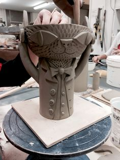 Making of the cat bowl