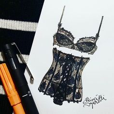 ▶❣◀ #draw #drawing #fashion #love #inlove #fashionillustration #corset #illustration #lingerie #intimates #instagood  #fashiondesign #designdemoda #moda #art  #arte #croqui #handmade #lookdodia  #lookoftheday #lace #vintage #fashion4arts