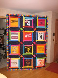 the best t-shirt quilt you will ever see. Thanks to Farme / Anne-Marie Abarado Webster-Yohnk Quilting Tutorials, Quilting Projects, Quilting Designs, Sewing Projects, Sewing Designs, Quilting Ideas, Sewing Tutorials, Sewing Ideas, Sewing Crafts