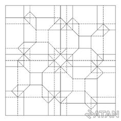 Offset Cubes Tessellation by Origami Natan, via Flickr