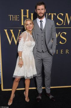 Cute couple: Chris Hemsworth has opened up about his relationship with wife Elsa Pataky and revealed that he continues to fall in love with her more each week