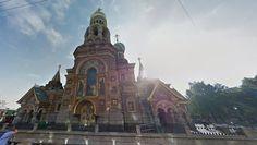 Iglesia del Salvador sobre la sangre derramada (Rusia):  el monumento destaca por su fachada multicolor y sus domos en forma de cebolla. Foto: Google Street View