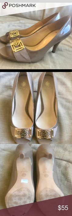 Isola Nude Heels Never worn! Leather upper. True to size. isola Shoes Heels
