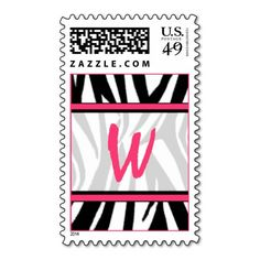 Monogram Postage Stamp - Zebra Print & Pink We have the best promotion for you and if you are interested in the related item or need more information reviews from the x customer who are own of them before please follow the link to see fully reviewsThis Deals          	Monogram Pos...