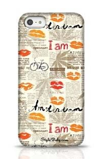 Imitation Of Newspaper Amsterdam Apple iPhone 5 Phone Case