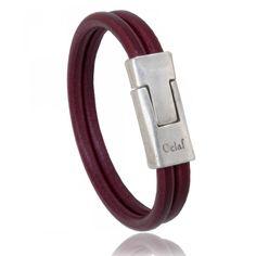 Man bracelet claret leather Imperial - Oclaf Trendy Bracelets, Bracelets For Men, Bracelet Cuir, Man Bracelet, Black Sesame Ice Cream, Leather, Men's Jewelry, Fashion, En Vogue