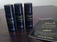 anything in my drawer, shopping bag, kitchen: skin care sample review : holika holika black caviar