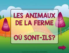 FRENCH Farm Animals & Prepositions - Les animaux de la ferme