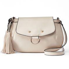 Mellow World Eve Tassel Mini Crossbody Bag, Women's, Beig/Green (Beig/Khaki)
