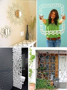 icu ~ Pin on Outdoor Projects ~ DIY PVC pipe privacy screen! DIY a new and beautiful privacy screen with some pvc. Diy Crafts Hacks, Diy Home Crafts, Diy Arts And Crafts, Diy Home Decor, Pvc Pipe Crafts, Pvc Pipe Projects, Cardboard Crafts, Diy Para A Casa, Diy Casa