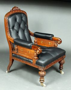OnlineGalleries.com - Victorian leather armchair