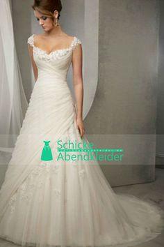 2015 Straps Mantel / Spalte Brautkleider gefaltetes Mieder mit Kristall Perlen Applikationen € 233.20 SAPYTZEQT7 - SchickeAbendKleider.de for mobile
