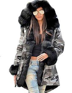 0bb97bee8465 Roiii Winter New Ladies Casual Coats Women Jacket Warm Hoodies Long Trench  Parka (XXX-Large