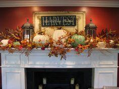 Fall Decor Ideas For Fireplace - Mbantool Fall Mantle Decor, Fall Home Decor, Autumn Home, Mantel Ideas, Fall Mantels, Decor Ideas, Autumn Mantel, Fireplace Decorations, Church Decorations