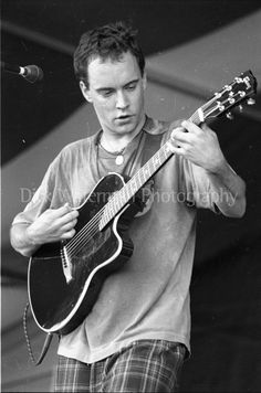 Dave Mathews jamming out in his jammies