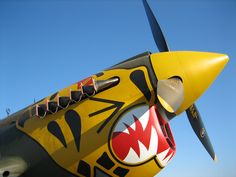 P-40 Aleutian Tiger Nose Art - Eleventh Fighter Squadron, 343rd Fighter Group