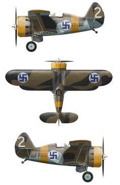 Polikarpov in Finnish service, 1942 Ww2 Aircraft, Fighter Aircraft, Military Aircraft, Fighter Jets, Aviation World, Aviation Art, Finland Air, Finnish Air Force, Ww2 Planes