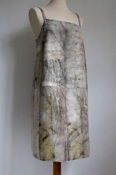 eco printed apron