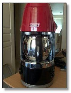 Coleman Portable Propane Coffeemaker Coffee Maker Battery Operated Bbq Machine