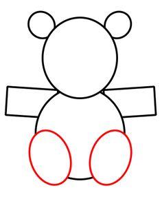 How to draw a teddy bear 3