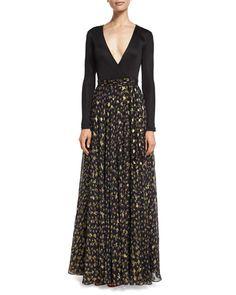 DIANE VON FURSTENBERG Aviva Metallic Floral-Print Chiffon Maxi Skirt. #dianevonfurstenberg #cloth #