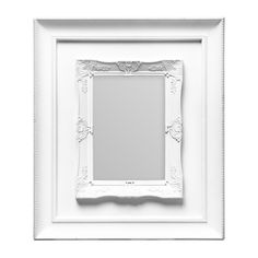 Photo Frame, White Plastic Frame, 5 x 7""