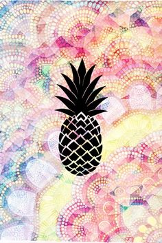 Pineapple wallpaper!!! For iphone, ipod, and ipad (Made bye me)