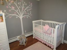 Project Nursery - Pink and Gray Classic Nursery Crib View