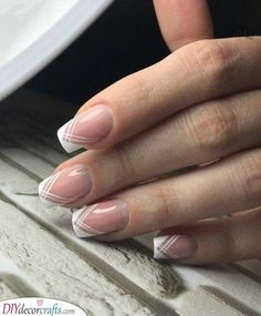 #Delicate #French #Lines #manicure #nails Delicate Lines - French Manicure Nails        Delicate Lines - French Manicure Nails