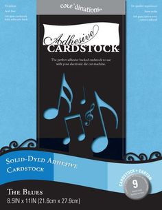 Core'dinations - 8.5 x 11 Adhesive Cardstock - The Blues at Scrapbook.com