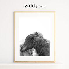 Horse Print Horse Hug Wall Art Horse Decor by WildPrintCo on Etsy