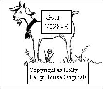 Goat rubber stamp, designed by Kathryn Read at Holly Berry House Originals