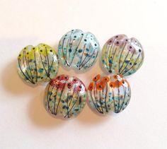 Helen Chalmers Murano Glass, Fused Glass, Glass Beads, Beading Patterns Free, Lampworking, Handmade Beads, Lampwork Beads, Bead Crafts, Glass Art