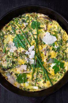 Artichoke, Leek, and Taleggio Frittata   Recipe   Artichokes, Frittata ...