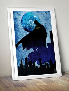Batman: Gotham's Guardian minimalist poster, homage to DC Comic's Batman by MaJiKartwork on Etsy https://www.etsy.com/listing/176386622/batman-gothams-guardian-minimalist