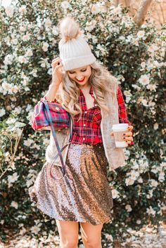 4 Ways to Style Plaid - Blush & Camo, casual Style, Plaid shirt, holiday style