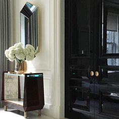 I just couldn't resist posting this shot from my favourite designer, Thomas Pheasant. Absolute perfection. Modern Classicism at its best. Interior designed by @thomaspheasant . #emdesign #beautiful #perfection #interior #interiordesign #black #lacquer #doors #mirror #luxe #luxury #highend #lifegoals #instadesign #designicon #myhero #heavenonearth #classic #simplyserene