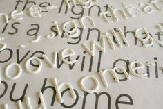To create raised letters for craft projects: print out the font you want and place wax paper over it. Then use puffy paint and trace. Let dry
