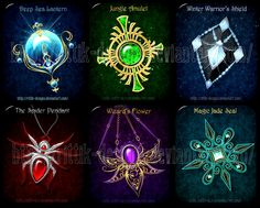 Magic items adopts 10 (CLOSED) by Rittik-Designs- spider pendant Anime Weapons, Fantasy Weapons, Fantasy Jewelry, Fantasy Art, Elemental Magic, Magical Jewelry, Weapon Concept Art, Magic Art, Anime Outfits