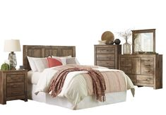 Shop a great selection of Blaneville 5 PC Queen Full Panel Bedroom Set w/ 2 Nightstand - Ashley Brown. Find new offer and Similar products for Blaneville 5 PC Queen Full Panel Bedroom Set w/ 2 Nightstand - Ashley Brown. Hooker Furniture, Bedroom Furniture Sets, Bedroom Sets, Furniture Layout, Ashley Bedroom, King Storage Bed, Bed Slats, Queen Bedroom, Bedroom Night Stands