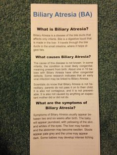 First Biliary Atresia Brochure trying to get important informations in Ped Doctors hands- throwback
