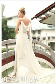 Elegant A-Line V-Neck Sleeveless Floor-length Prom Dresses: Dressbraw.com