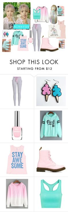 """Worked Hard till I Pastel ""Amen"" by Monsta X"" by park-ji-eun ❤ liked on Polyvore featuring Junk Food Clothing, Billabong, Dr. Martens, Forever 21 and Essie"