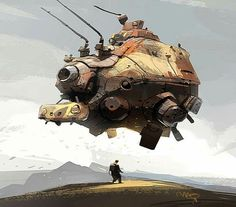 Ian McQue art How I see the raft Spaceship Concept, Concept Ships, Concept Art, Arte Sci Fi, Sci Fi Art, Illustrations Vintage, Illustration Art, Steampunk, Estilo Tim Burton