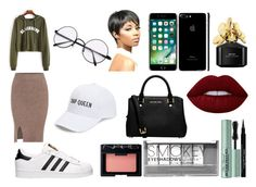 """A Fun Day Out"" by a-rushing ❤ liked on Polyvore featuring Amici Accessories, adidas, MICHAEL Michael Kors, Boohoo, Givenchy, Marc Jacobs, NARS Cosmetics, Too Faced Cosmetics and Lime Crime"